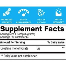 BPI Micronized Creatine Unflavored 300 grs