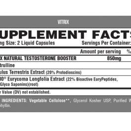 Nutrex Vitrix Precursor Natural Testosterona 80 Capsulas Liquidas