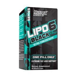NUTREX LIPO-6 BLACK HERS UC QUEMADOR DE GRASA MUJER 60 CAPSULAS