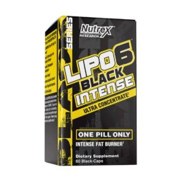 NUTREX LIPO-6 BLACK INTENSE QUEMADOR DE GRASA 60 CAPSULAS