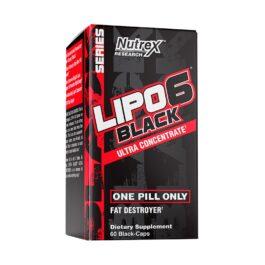 NUTREX LIPO-6 BLACK UC QUEMADOR DE GRASA 60 CAPSULAS