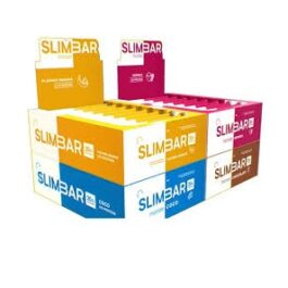 Caja Barritas Proteína Slimbar 12 un.